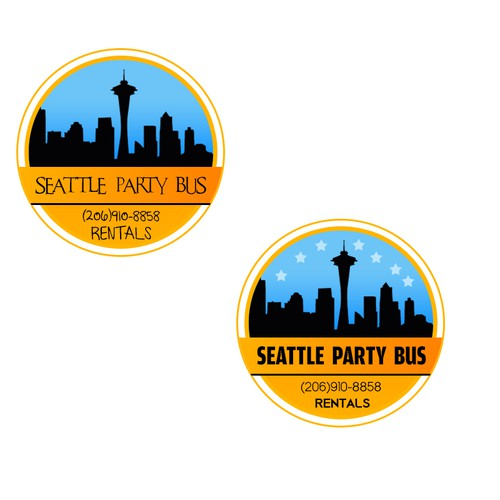Help Seattle Party Bus Rentals  with a new logo
