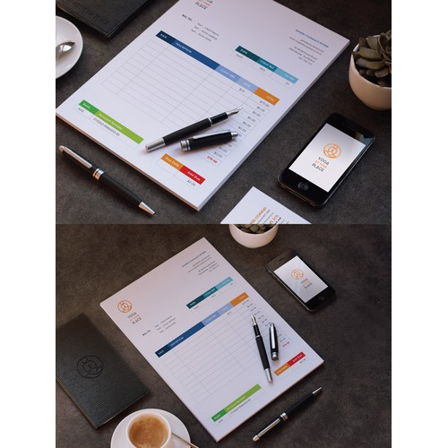 Invoice and Business cards design