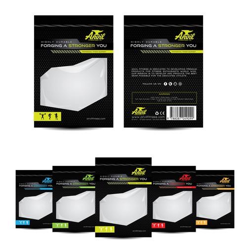 Packaging design for Anvil fitness equipment