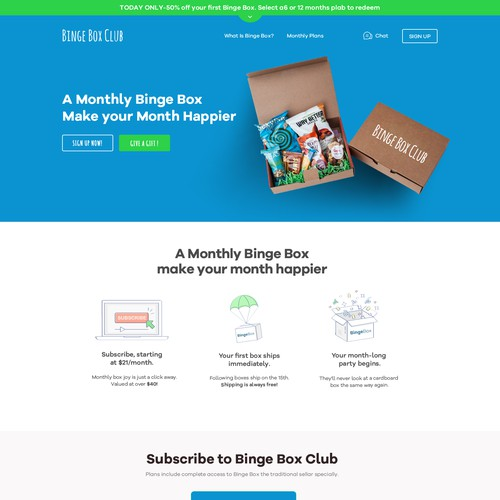 Subscription Box Website Design