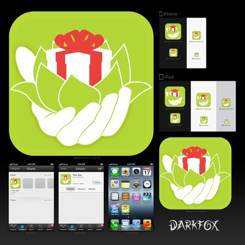 Help Give or Take App with a new icon or button design