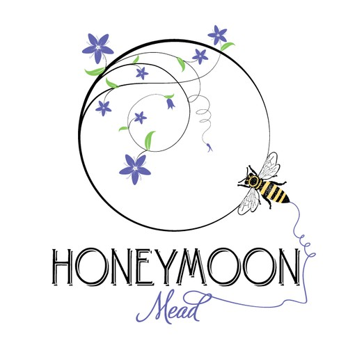 ***Meadery Logo - Honeybees, Wine, Bees, Beekeeping, Family Owned***