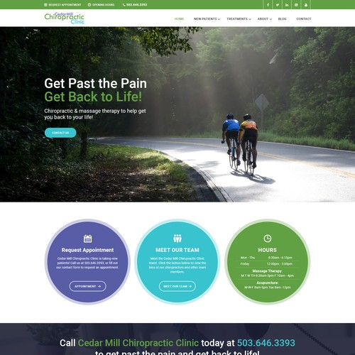 Clinic  website design