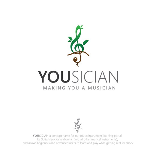 Logo for Yousician - the future of music learning!