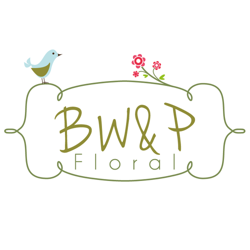 cute bird - florist logo