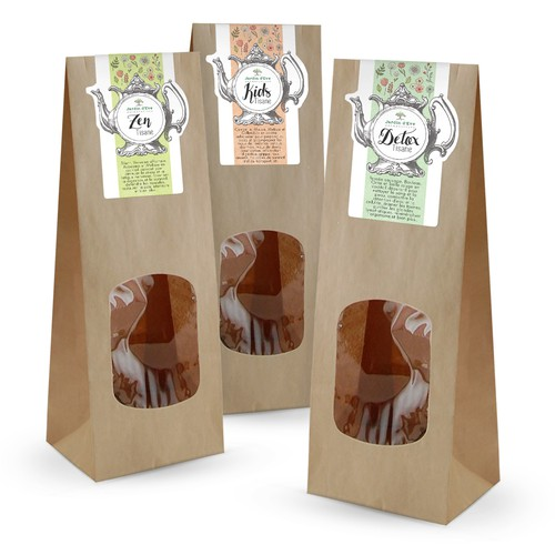 Label design for tea packaging