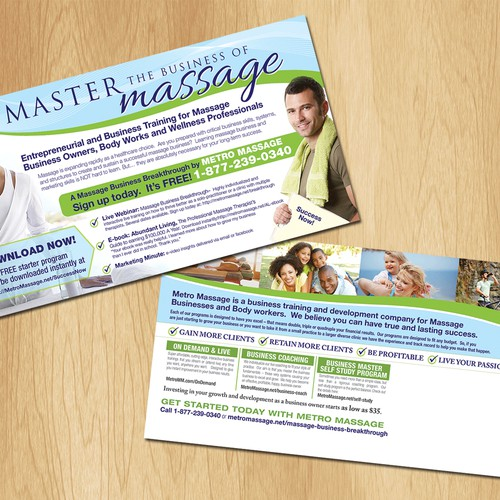 Help Metro Health & Wellness with a new postcard for direct mail