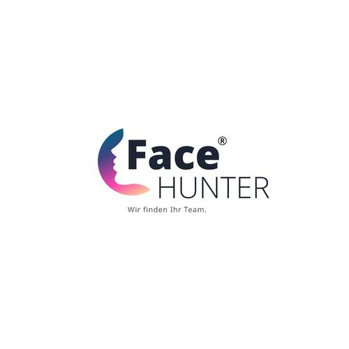 "logo concept for ""Face hunter"""