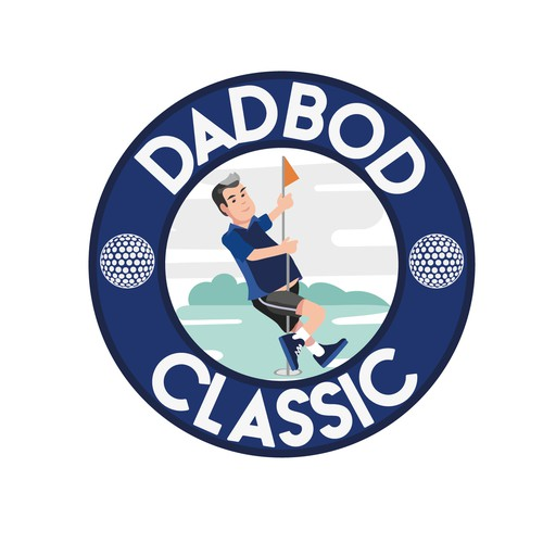 DadBod Classic Golf Club Logo Design