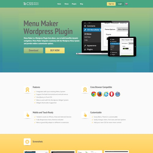 Landing/Sales page for a Wordpress Plugin
