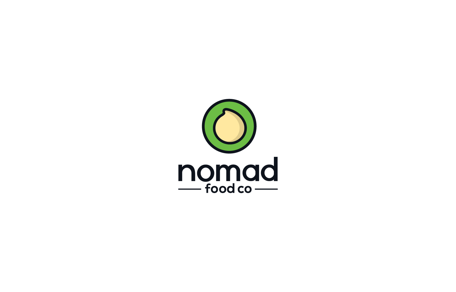Create an eye-catching logo for nomad food co., producers of Mediterranean cuisine
