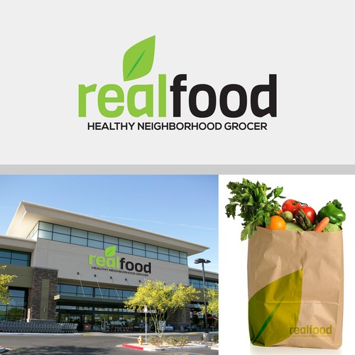 Clean, modern logo for healthy grocer