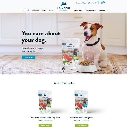 Dog Food Website