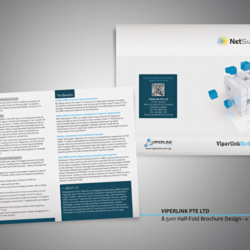 Create the next brochure design for Viperlink Pte Ltd