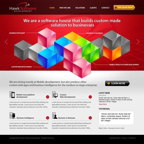 Hawk Software Development needs a new website design
