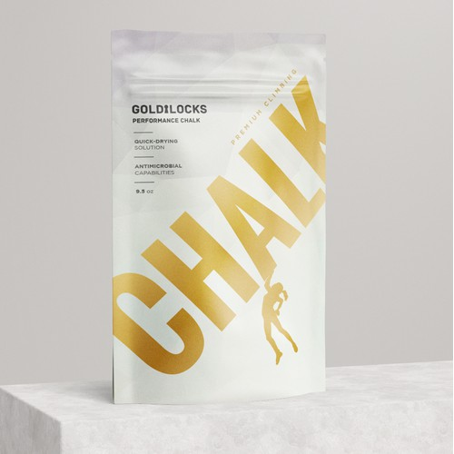 Bold Minimal Pouch Packaging for Sport Product