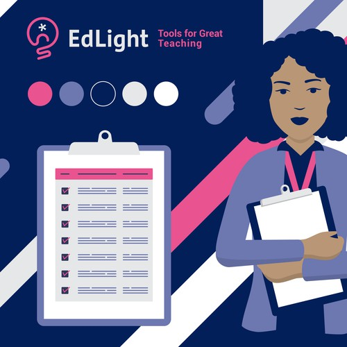 Stylescape of Brand Guide and Brand identity designs system for Edlight App
