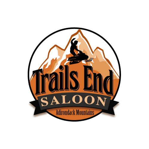 Create a winning logo for Trails End Saloon