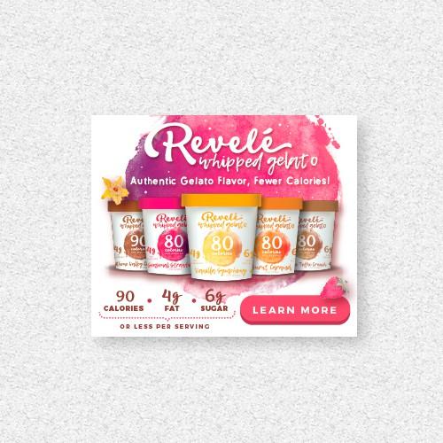 Eye catching banner ads for Revelé Whipped Gelato