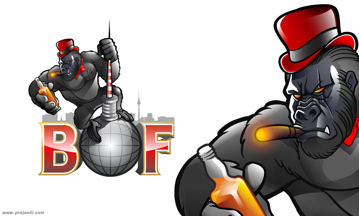 New Logo for a Fraternity! Gorilla Illustration!