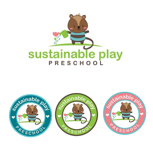 Cute and adorable logo for the preschool