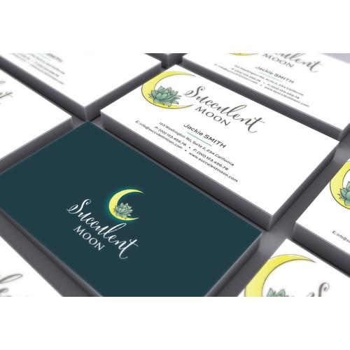 Succulent moon logo
