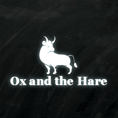 Negative space logo ox and hare logo