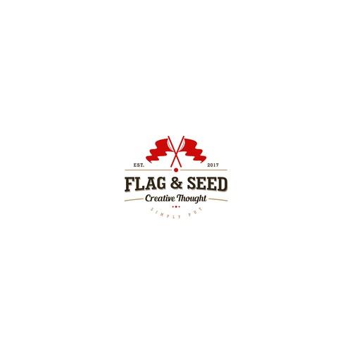 Vintage For Flag & Seed Logo