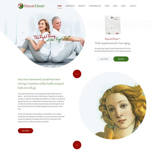 Resverchron Website Design