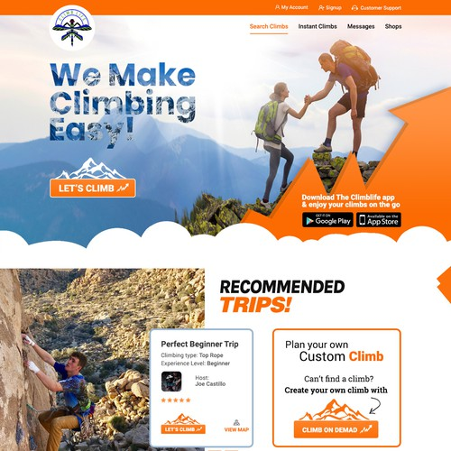 Home page for Climberlife
