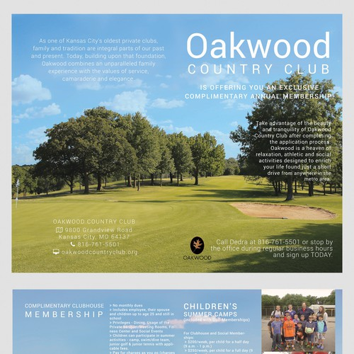 Brochure for Country Club