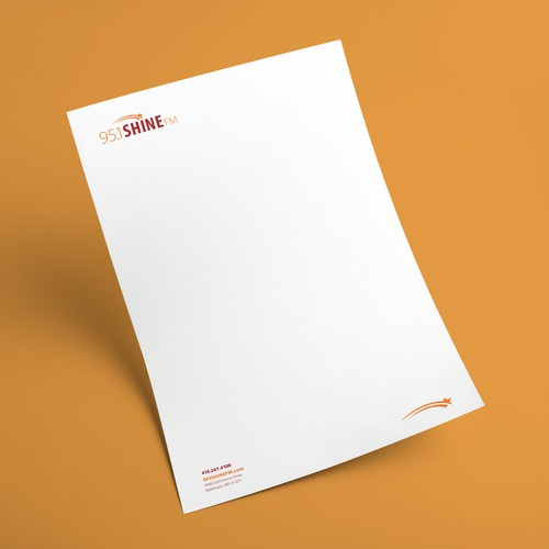 Letterhead for 95.1SHINE FM