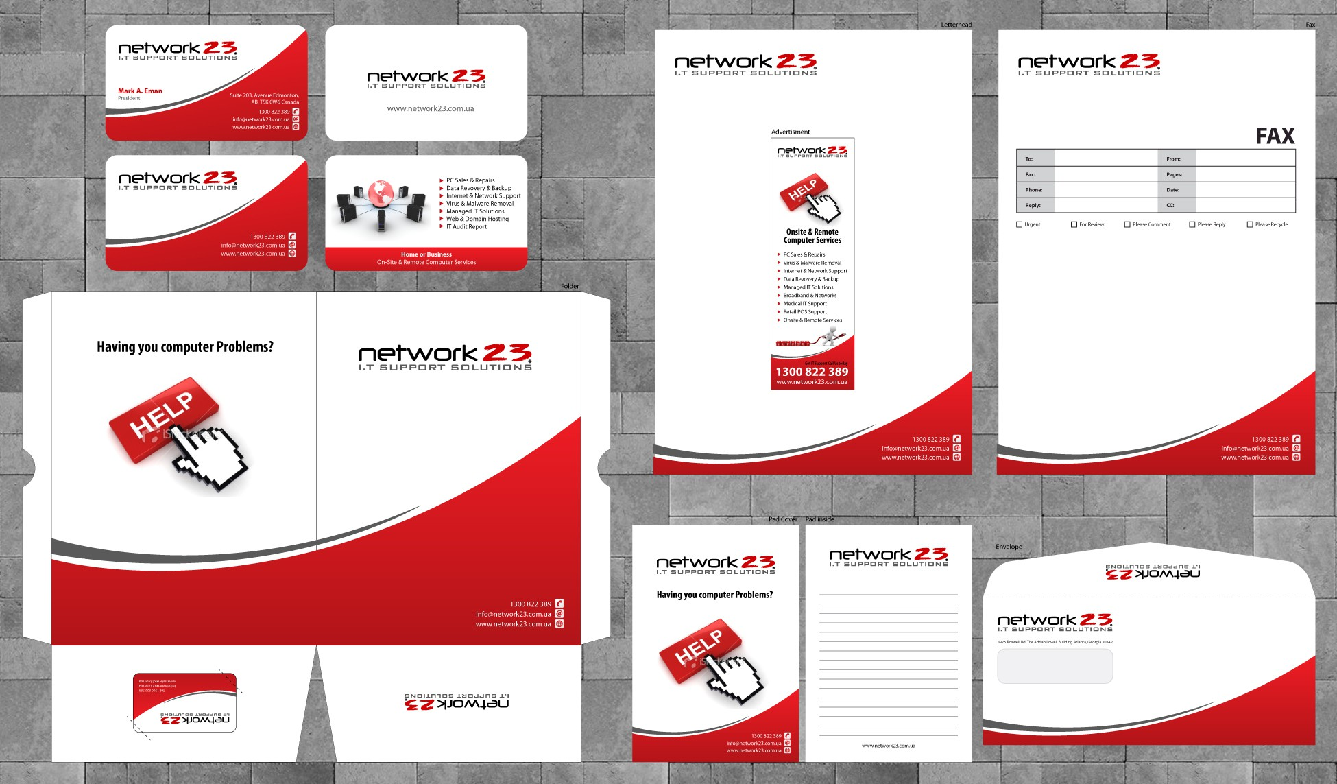 Complete Stationery Pack required for IT Company