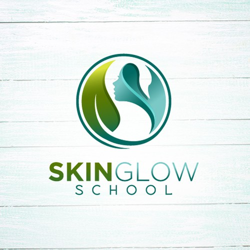 Elegant Logo for an Online School for Natural Skin Care