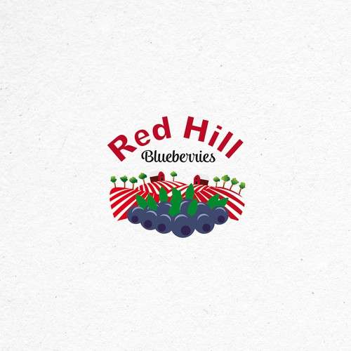Logo for blueberries growers