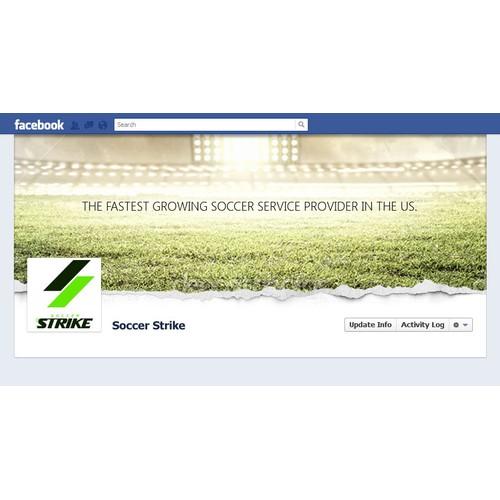 Soccer Strike Facebook Cover Design