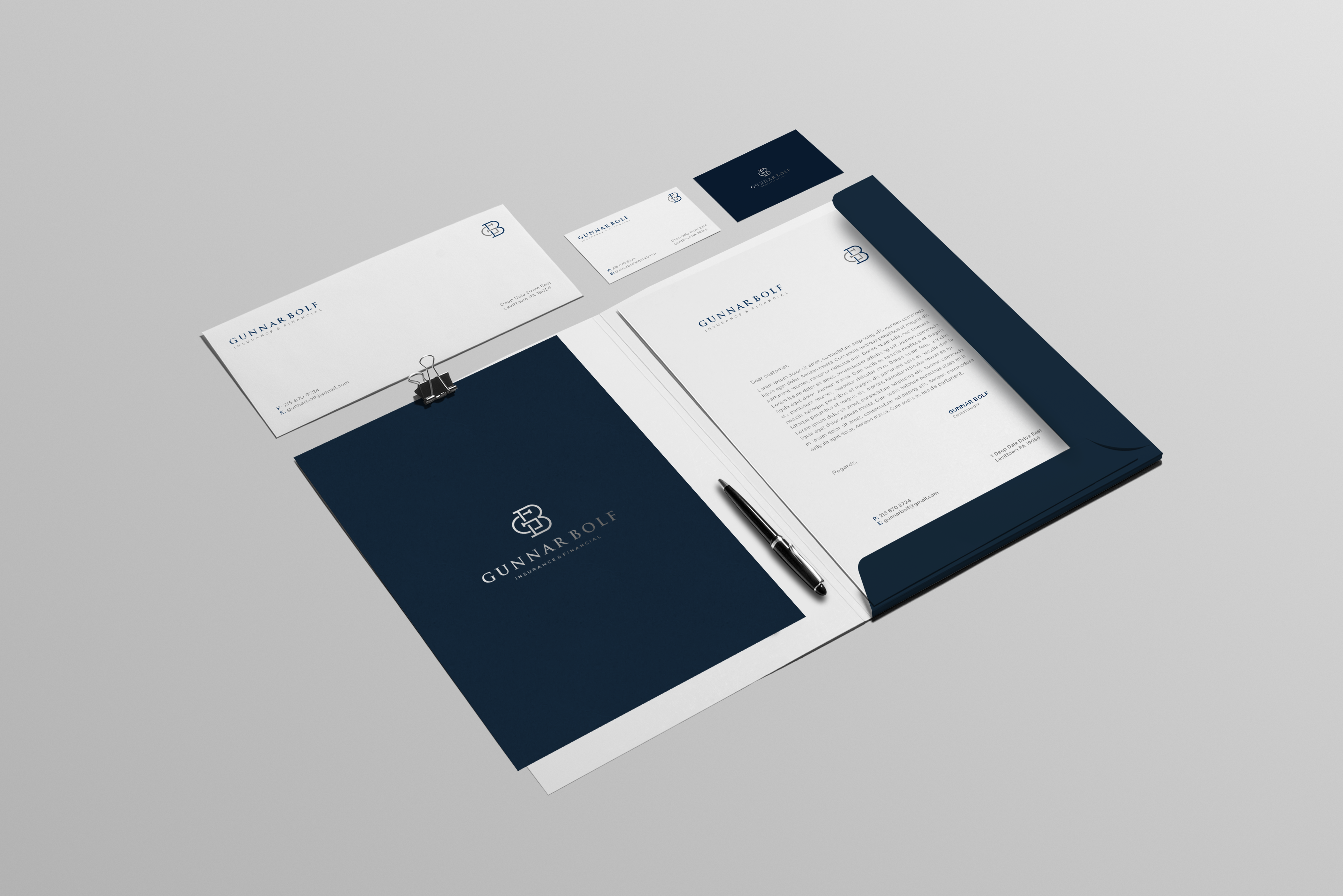 Design a modern minimalist logo for a young mans Insurance company!