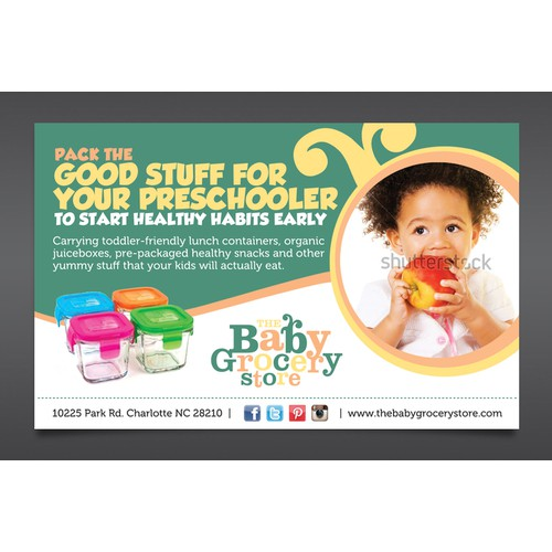 1/2 page print ad for The Baby Grocery Store