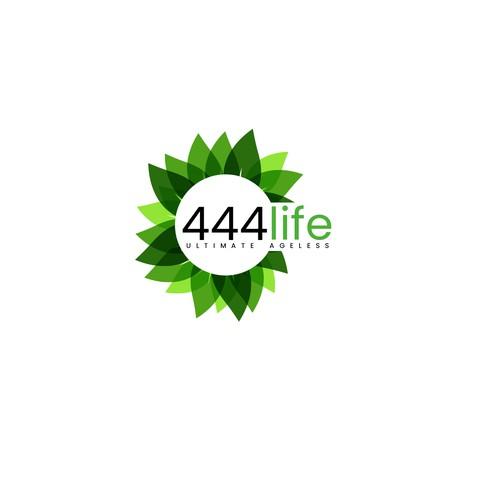 Green, lush logo for 444life