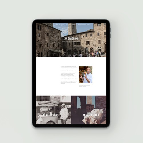 Authentic website for famous Italian gelateria