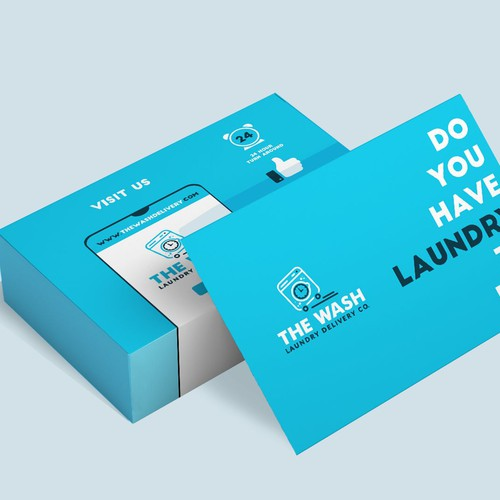The Wash Laundry Delivery Co. Business Card