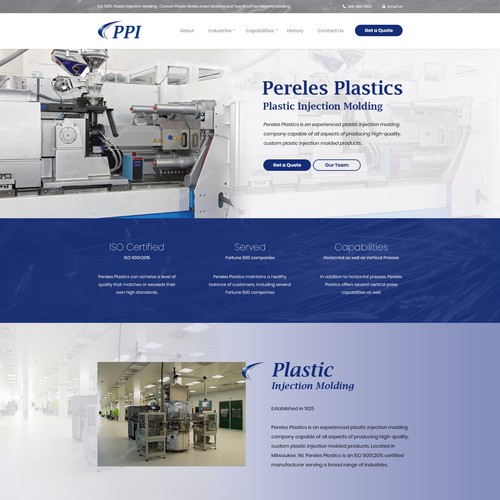 Website Design for Plastic Injection Molding Company in Milwaukee