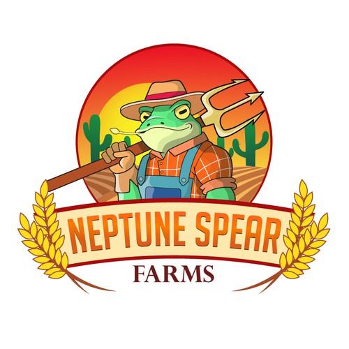 Cartoon farm logo concept