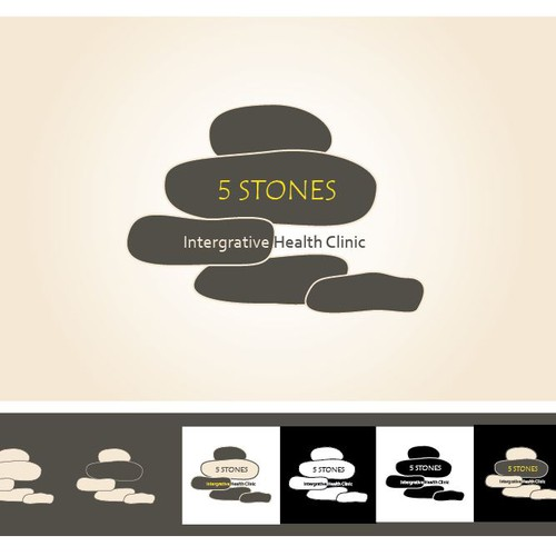 Create a winsome logo for Five Stones- Integrative Health Clinic