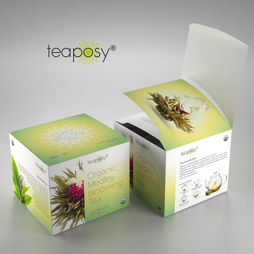 Packaging design for Teaposy Blooming Tea