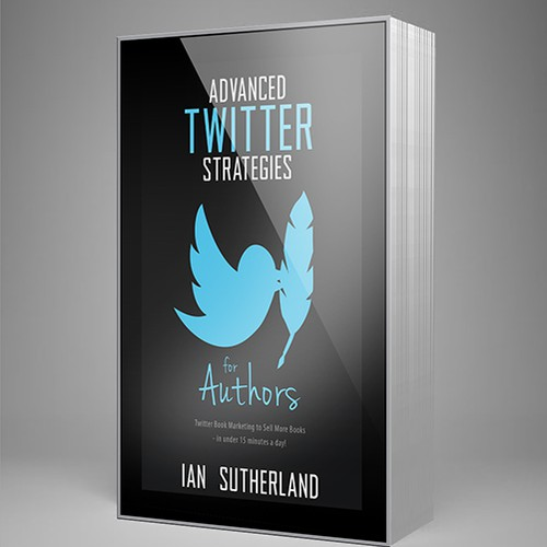 Design an enticing non-fiction book cover for my how to book on Twitter aimed at other authors