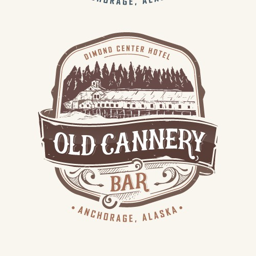 Vintage bar logo design