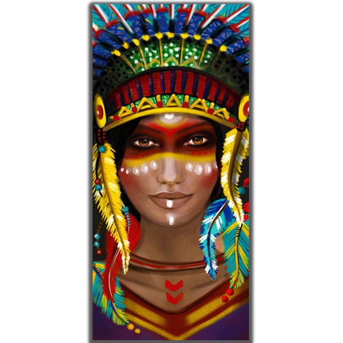 Canvas Wall Art design for the Native American niche