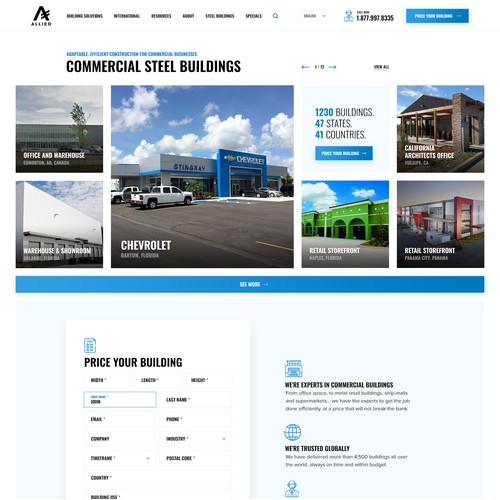 Allied Steel Buildings - Industry page