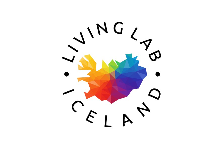 Creative and Professional Logo design for Living Lab Iceland